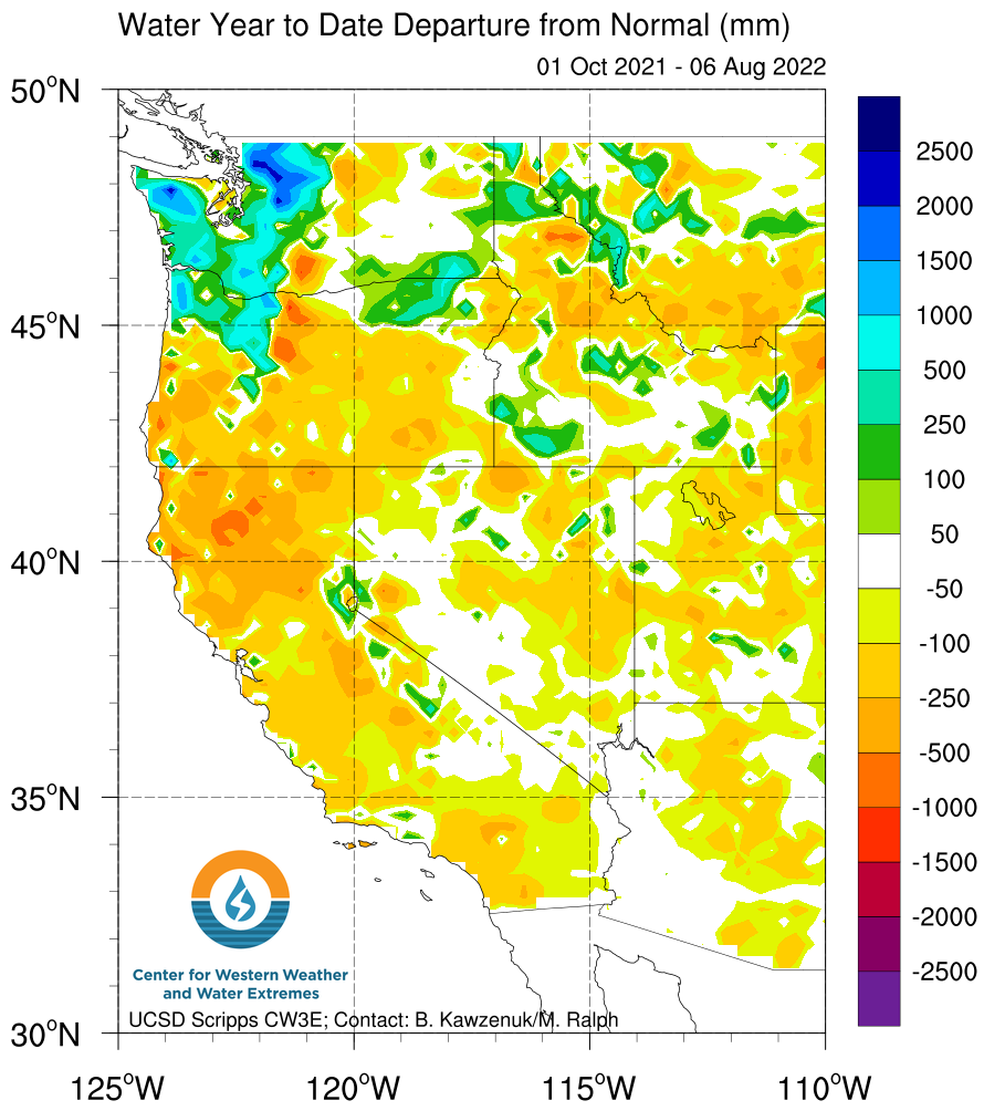 WYTD_DepartureFromNormal_Latest climate signals california water year 2016 2017  at panicattacktreatment.co